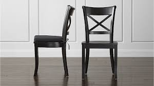 Black Dining Chairs Vintner Black Wood Dining Chair And Cushion Crate And Barrel