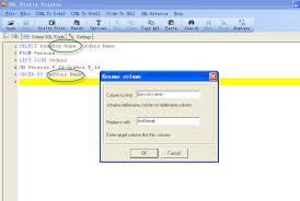 rename table name in sql sql refactor rename column and table