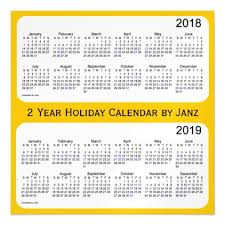 2018 2019 gold holiday calendar by janz magnetic card