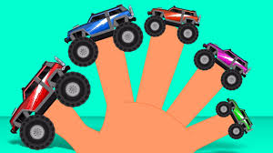 monster trucks finger family nursery rhyme english song