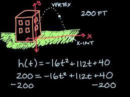 quadratic function word problem youtube