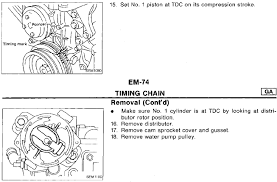 nissan maxima timing chain 1994 ga16de nissan timing chain diagram nissan sentra timing chain