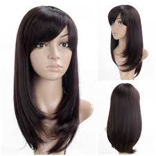 asian woman u0027s wig dark brown long straight wig japanese korean
