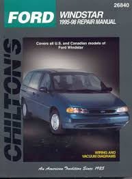 ford windstar 1995 98 chiltons total car care repair manual