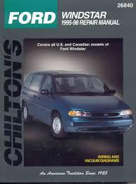 Ford Windstar 1995 98 Chiltons Total Car Care Repair Manual
