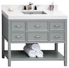 42 Bathroom Vanity Cabinets Ronbow Newcastle Solid Wood 42 Vanity Cabinet Base Gray 42