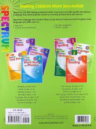 amazon com language arts grade 6 spectrum 9781586830823