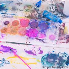 process art with fizzy flour paint simple fun for kids