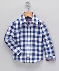 ciao marco royal blue gingham button up shirt boys zulily