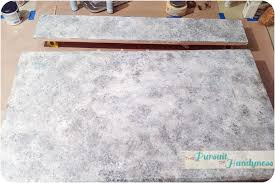 How To Paint Faux Granite - diy a faux stone countertop