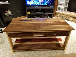coffee table first build with own design joinery and secret