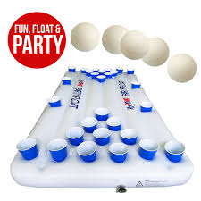 Amazon Ping Pong Table Amazon Com H2pong Inflatable Beer Pong Table Float Includes 5