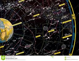 Constellations Map High Detailed Sky Map Of Southern Hemisphere With Names Of Stars