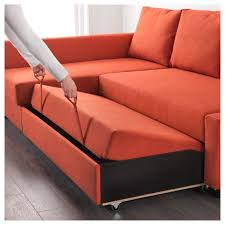 canapé d angle orange friheten convertible d angle avec rangement skiftebo orange foncé ikea