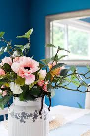 vintage milk can farmhouse flower arrangement