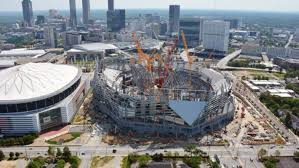 mercedes dome falcons stadium set to open in mid august dome still