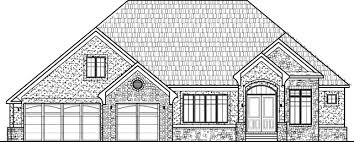 3 Bedroom 2 Bath Bungalow by Tuscan Houses Stone Architect House Plans Two Bedroom Two Bath 3
