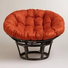 papasan chair cover rust micro suede papasan chair cushion world market