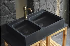 evier de cuisine à poser évier en pour cuisine karma shadow 90x60 granit noir living roc