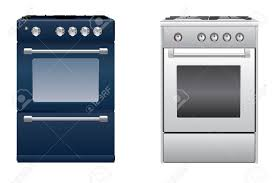 modern kitchen technology two modern kitchen gas stove royalty free cliparts vectors and