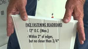 certainteed beadboard part 15 decorative white azek beadboard