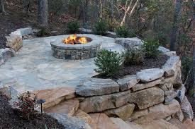 Rock Firepit Magical Outdoor Pit Seating Ideas Area Designs