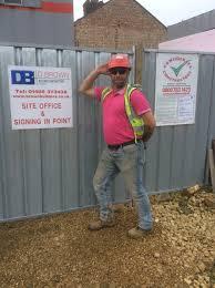 d brown builders wear it pink d brown builders