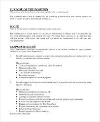 Administrative Assistant Job Duties For Resume Office Assistant Job Description Sample Resume For Office