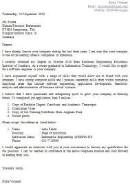 application letter for mechanical engineering job