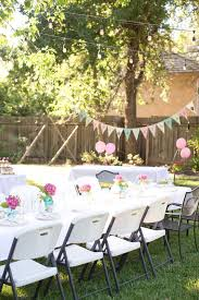 Backyard Parties Domestic Fashionista Backyard Birthday Fun Pink Hydrangeas