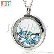 floating pendant necklace images Wholesale water proof floating lockets 316l stainless steel twist jpg