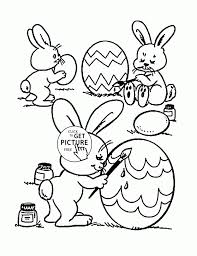 bunny coloring pages easter bunnies pictures color free