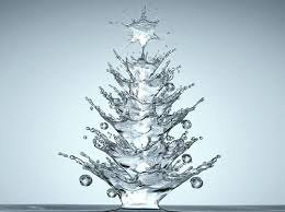 Small Decorated Christmas Trees To Send by Water Droplet Christmas Tree Yes This Is Photoshopped But Isn U0027t