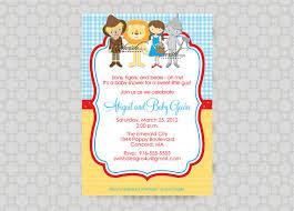 Wizard Of Oz Shower Curtain Wizard Of Oz Baby Shower Invitation Tin Man By Swishdesigns