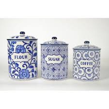 blue kitchen canisters kitchen canisters jars you ll wayfair ca
