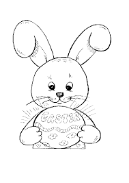 free printable coloring pages kids easter bunny rabbit