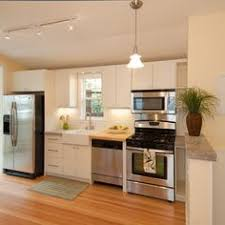 Practical UShaped Kitchen Designs For Small Spaces Narrow - Small apartment kitchen design ideas