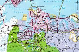 Map Of Norfolk Virginia by Interstate Guide Interstate 264 Virginia