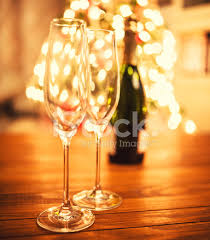 new years chagne flutes chagne flute glass celebrating the new year stock photos