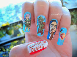 mesmerizing world of nail art clash of clans nail art