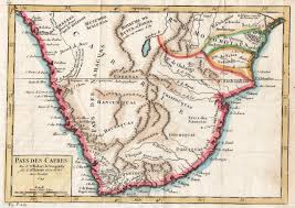 Southern Africa Map Africa Southern Pas Des Cafres Michael Jennings Antique Maps