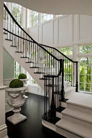contemporary stair runners staircase traditional with plant stands
