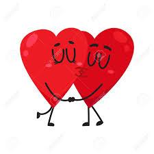imagenes animadas sobre amor dos corazones besándose tomados de la mano pareja en concepto de