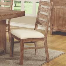 elmwood rustic solid wood dining side chairs by coaster 105542