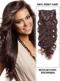 22 inch hair extensions inch wavy clip in human hair extensions 4 chocolate