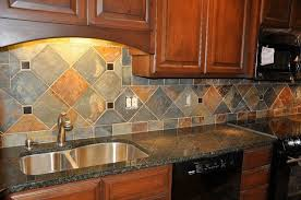 Granite Countertops And Tile Backsplash Ideas Eclectic Kitchen - Granite tile backsplash ideas
