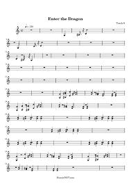 enter the dragon sheet music enter the dragon score u2022 hamienet com