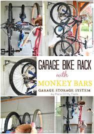 Garage Organization Systems Reviews - garage organizing garage bike rack from monkey bars place of