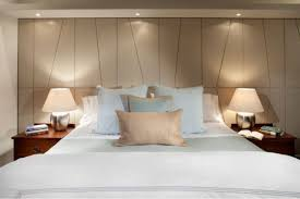 Bedroom Led Lights by Tuscan Bedroom Illuminated With Hanging Chandelier And Led