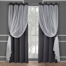 Sheer Curtains Grommet Top Ati Home Catarina Layered Blackout And Sheer Curtain Panel Pair W
